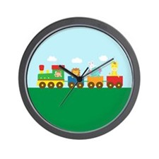 animal-train-square Wall Clock