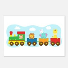 animal-train-T-shirt Postcards (Package of 8)