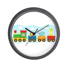 animal-train-T-shirt Wall Clock