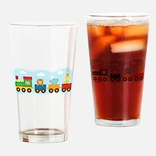 animal-train-T-shirt Drinking Glass