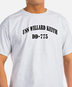 USS WILLARD KEITH Ash Grey T-Shirt