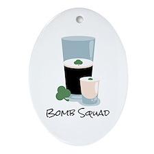 Bomb Squad Ornament (Oval)