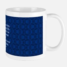 John 6:35 The Word blue Mug