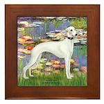 Lilies & Whippet Framed Tile
