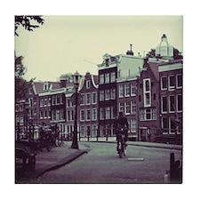 Lonely Bike Polaroid Tile Coaster