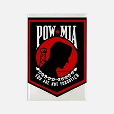 POW MIA (Red) Rectangle Magnet