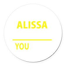 Cute Alissa Round Car Magnet