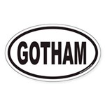 GOTHAM Euro Oval Sticker