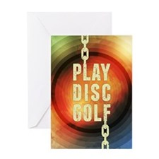 Play Disc Golf Greeting Cards