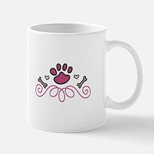 Dog Paw Swirl Mugs