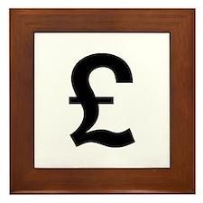 British Pound Framed Tile