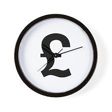 British Pound Wall Clock