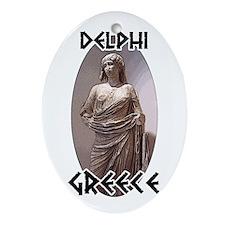 Delphi Statue Oval Ornament