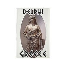 Delphi Statue Rectangle Magnet