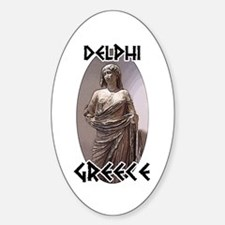 Delphi Statue Oval Decal