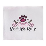 Yorkies Fleece Blankets