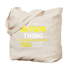 Cute Alyson Tote Bag