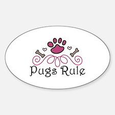 Pugs Rule Decal