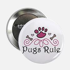"""Pugs Rule 2.25"""" Button"""