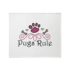 Pugs Rule Throw Blanket