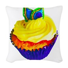 Cupcake Woven Throw Pillow