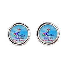 I'm a Realtor. What's Your Super P Round Cufflinks