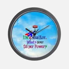 I'm a Realtor. What's Your Super Power? Wall Clock