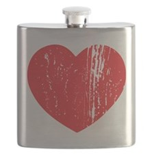 Distressed Heart Flask