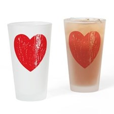 Distressed Heart Drinking Glass