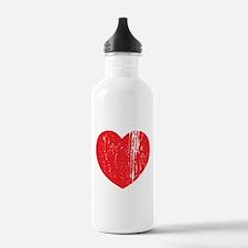 Distressed Heart Water Bottle