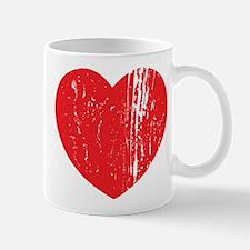 Distressed Heart Mugs