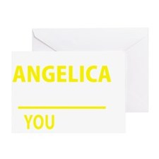 Unique Angelica Greeting Card