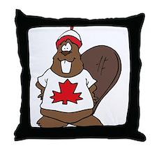 Canadian Beaver Throw Pillow