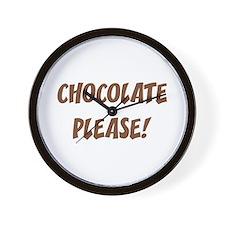 Chocolate Please Wall Clock