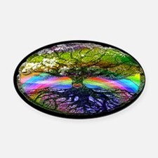 Tree of Life Heart Oval Car Magnet
