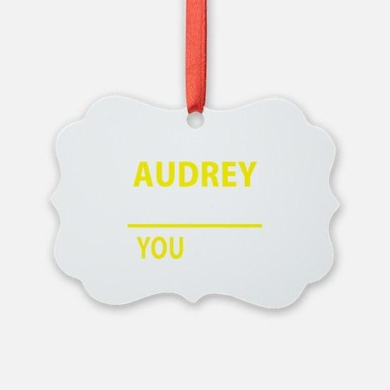 Cute Audrey Ornament