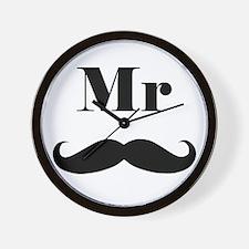 Mr. Mustache Wall Clock