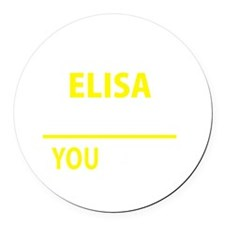 Cute Elisa Round Car Magnet