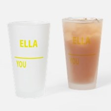 Cute Ella Drinking Glass