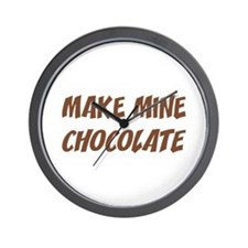 Make Mine Chocolate Wall Clock