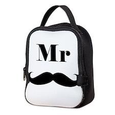 Mr. Mustache Neoprene Lunch Bag