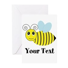 Personalizable Honey Bee Greeting Cards