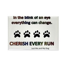 Cherish Every Run Rectangle Magnet