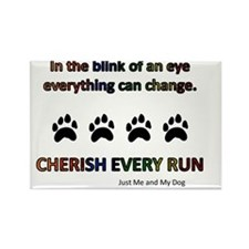 Cherish Every Run Rectangle Magnet