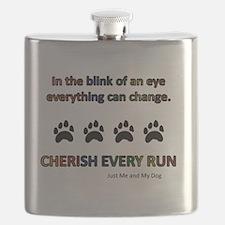 Cherish Every Run Flask