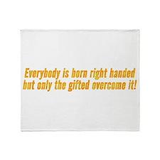 left_handed.png Throw Blanket