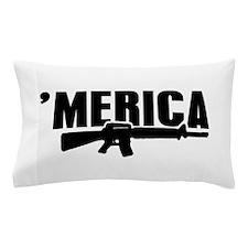 MERICA Rifle Gun Pillow Case