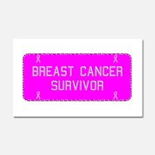 Plate Breast Cancer Survivor Car Magnet 20 x 12
