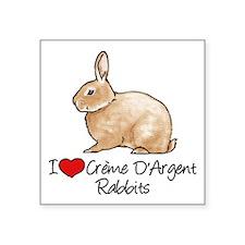 I Heart Creme DArgent Rabbits Sticker