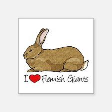 I Heart Flemish Giant Rabbits Sticker